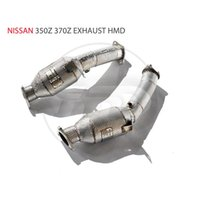 Manifold & Parts HMD Exhaust Downpipe For 350Z 370Z GTR35 Car Accessories With Catalytic Converter Header Intake Manifolds