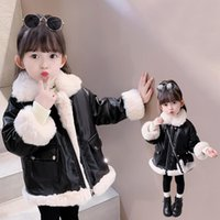 Down Coat 2021 Baby Girl Winter PU Jacket Kids Fashion Thick Warm Leather Jackets For Children Overwear Girls Clothes