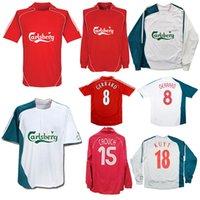 2006 2008 Gerrard Fowler Alonso Kuyt Riise Ретро Футбол Джерси Джерси Дом в 2007 году Carragher Mascherano Vintage Классический футбол