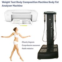 Buena calidad Aesthetics Prueba de grasa Elementos de análisis de análisis de básculas de pesaje de belleza cuidado de peso reduce el analizador de la composición corporal