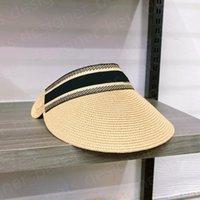 2021 ÜST Tasarımcı Visor Yükseltilmiş Kalınlaşmış Marka Erkek Kadın Şapka Güneş Şapka Yaz Açık Güneş Gözlüğü Ayarlanabilir