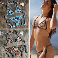 Set sexy Bikini Set Donne Crochet Costume da bagno Boemia Beach Micro Bikini Set Sexy Lingerie Set 924 Z2