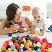 Bunte Kinderzählungsspielzeug Ente Dinosaurier Tiermodell Farbe Kognition Unterrichtshilfen Montessori Frühere Lernen Bildung Spielzeug