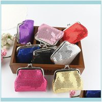 Gift Wrap Event Festive Supplies Home & Gardensmall Sequin Wallet Card Holder Coin Purse For Women Girls Birthday Party Favor Gifts Drop Del