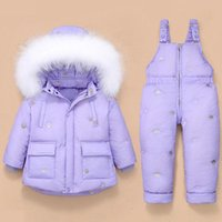 Clothing Sets Year Winter Down Jacket Overalls For Kids Toddler Baby Girl Boy Clothes Children Coat Pant Set Hooded Parka 1-4 Yrs