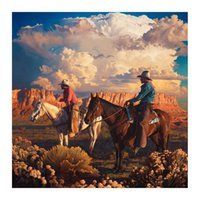 Maggiori Father and Son Cowboy Painting Poster Print Home Decor Framed Or Unframed Photopaper Material