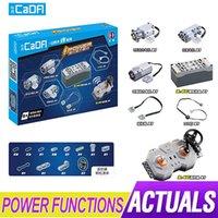 Lepinblocks Power Funktion Motor Motor Kompatibel Auto 20086 20001 42083 42056 App Fernbedienung Batteriekasten LED-Licht 210416