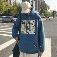 Erkekler S Giyim Tek Parça Anime Hoodies Harajuku Maymun D Luffy Baskı Tişörtü Kadın Vintage Büyük Boy Kazaklar KPOP Tops
