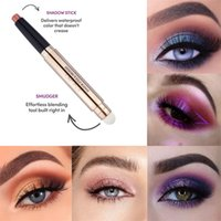 12 Colors Eyeshadow Pen Beauty Highlighter Matte Color Soft Texture Eye Shadow Pencil with Building Tool