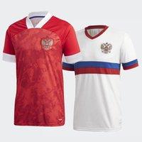 2020-21 SAISON RUSSIA SOCCER JERSEYS HOME ET ALLA ARSHAVIN KOMBAROV Sweat-shirt de haute qualité Smolov (choisissez Flocking)