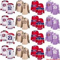 Uomini personalizzati Donne Gioventù Montreal Canadiens Qualsiasi nome Patrick Roy 31 Carey Prezzo 6 Shea Weber 6 Shea Weber 92 Drouin USA Bandiera maglie da hockey.