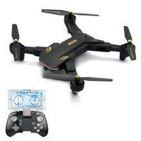 Drones Visuo XS809S 2.0MP Geniş Açı Kamera WIFI FPV Katlanabilir Drone Bir Anahtar Dönüş Rakım G-Sensör Quadcopter RC Oyuncaklar Hediye Olarak Tutun