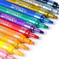 12 цветов акриловые ручки краски, водонепроницаемые маркеры набор для рок-рок-роспись, керамики, стекло, DIY ремесло художественные принадлежности, дерево, кружки, холст, ткань и скрапбукинг