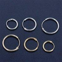 Großhandel - Gold Silber überzogene Reifen Ohrringe Kleiner Huggie Runde Kreis Schleife Ohrring Frauen Männer Ohr Schmuck Zubehör Cool Pendientes1 785 R2