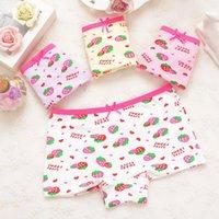 Panties Child's For Shorts Kids Underwear 4pcs lot Baby Girl Cute Stripe Children's Briefs