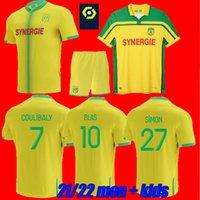 Erkekler + Çocuklar 21 22 FC Nantes Futbol Formaları Ev Uzakta Simon Louza Kolo Muani Blas Bamba Maillot De Foot 8th Yıldız 2021 2022 Coco Coulica Yetişkin Futbol Gömlek