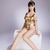 Lifelike Soft Breasts Real Silicone Sex Doll with Implanted Hair Realistic Vaginal Oral Cat Ass Metal Skeleton Sexy Beauty Adult