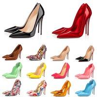 2021 kadın lüks ayakkabı kırmızı alt yüksek topuklu Glitter Perçinler üçlü siyah çıplak Pembe beyaz Patent deri süet moda parti gelinlik ayakkabı