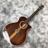 41 pulgadas Koa completo de madera AK-11 Picku Pickup Folk Electric Guitarra acústica