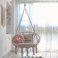 Круглый гамак качели висит стул открытый внутренняя мебель для садового общежития ребенка взрослый с подушкой игры