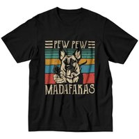 Camisetas para hombres Pew Madafakas T Shirts Tshirts de manga corta Tshirts de la novedad Camiseta de la novedad Diseñador Vintage Pastor alemán Pastor TEETHI