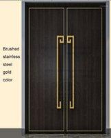 Manijas tiras de la puerta delantera entrada entrada de vestíbulo puerta de madera tirón y empuje manija hardware vidrio elegante oro1
