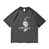 T Shirt Zues Fashion @ Street Summer Men's T-Shirt Astronauta Imprimir Limpie A Los amantes del algodón suelto