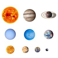 Wall Stickers -10 Pcs Planet Solar System Fluorescent The Universe Galaxy Children Room Bedroom Luminous
