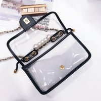 2 models Top 5A quality luxurys designers bags girl shoulder bag crossbody transparent Genuine leather lady handbag wallet Hardware chain rope woman High capacity
