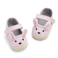 أول مشوا مولود طفل الفتيات الفتيان الأحذية الحيوان نمط لطيف الربيع كيد المضادة للانزلاق طفل سرير 0-18 متر