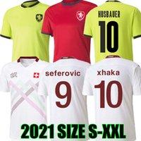 2020 2021 스위스 축구 유니폼 Suisse 플레이어 버전 20 21 체코 jankto 암호사 Behrami embolo seferovic kaderabek husbauer 축구 셔츠 유니폼
