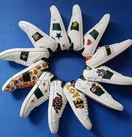 Hohe Qualität Herren Freizeitschuhe Weiß Ass Grün Rot Streifen Italien Biene Tiger Schlange Frauen Sneaker Trainer Chaussures Gießen Hommes mit Kiste