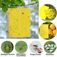 Schädlingsbekämpfung klebrige gelbe quadratische papier doppelseitige board insekt aufkleber gemüse obstpflanze moskitofliegen fall 15 * 20 cm
