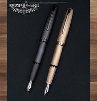 Fountain Pens 2021 Llegada Héroe original Pluma de lujo Buena calidad Negocio de negocios Escritura