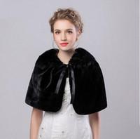 Elegante Abrigo Nupcial Chaqueta Abrigo Chaquetas Boleros Shrugs Regular Faux Fur Stole capas para el banquete de boda Envío Gratis