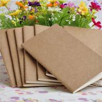 neue koreanische Schreibwaren Büro Schulbedarf Vintage Kraft Abdeckung leer Notebook Notiz Buch Notizblock Skizze Buch Tagebuch Notizblöcke