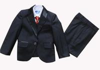 boy Tuxedo Suit Vest Shirts Tie or bow tie Wedding suits Dress 5 pcs set 10 sets/lot