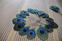 도매 - 무료 배송 100pcs / lot 공작 눈 트림 깃털 너비 보석 공예품 스크랩북의 머리 장식에 대한 3-5cm