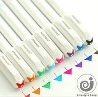 8 adet / takım şeker renk jel kalem sevimli kalemler canetas malzeme escolar kırtasiye papelaria okul ofis malzemeleri JIA080