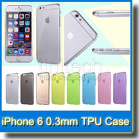 0.3mm Slim Soft Silicone Transparent TPU Gel Couverture Cover Case pour iPhone 6 4.7 iPhone 6 Plus 5.5 pouces