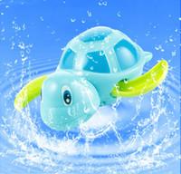 Новорожденные дети плавают черепахи заводят цепь маленькое животное Детские Детские игрушки для ванной классические игрушки плавательный бассейн играть игрушки для купания