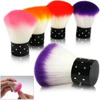 Toptan-1 adet Renkli Nail Art Salon Akrilik UV Jel Toz Temizleyici Fırça Araçları Süslemeleri Için