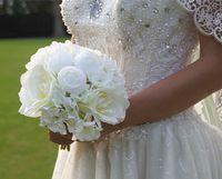 2020 جديد وصول عالية المستوى الزفاف باقة الزفاف الطراز الطازف مع مزيج زهرة الفاوانيا الاصطناعية