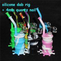 Bangs de narguilé de silicone de dispositifs de silicium luisent dans les dispositifs foncés d'huile de dab d'huile de silicium avec le collecteur nectar de silicone de clous de quartz masculins clairs de 4mm de 14mm