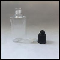 Garrafa plástica do ANIMAL DE ESTIMAÇÃO 30ml lisa para o líquido do Cig do vapor de E com o tampão do childroof e o conta-gotas fino longo da ponta para o E-suco