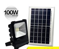 Открытый солнечный светодиодный прожектор 100W 50W 30W 70-85LM лампы водонепроницаемый IP65 освещение прожектор панели батареи питания дистанционного Contorller Китай LF