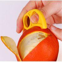 Plastik Portakal Soyma Zesters Limon Greyfurt Meyve Dilimleme Açacağı Kesici Mutfak Alet Rastgele