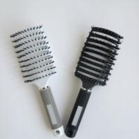 Professionelle Haarverlängerungen Borste Haarbürsten Kamm antistatische Hitze gebogen Vent Barber Salon Hair Styling Tool Zeilen Tine Comb