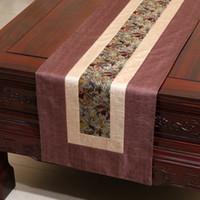 Extra lang 120 inch klassieke patchwork tabel runner Europese stijl noil poplin theetafel doek mode eettafel pads placemat 300x33 cm