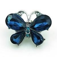 الأزياء 18 ملليمتر المفاجئة أزرار 2 لون حجر الراين الفراشة المشابك المعدنية diy أساور مجوهرات اكسسوارات نوسا للتبادل